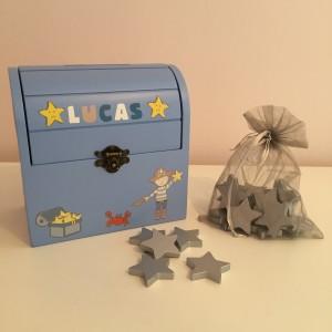 Personalised Pirate Reward Box with stars
