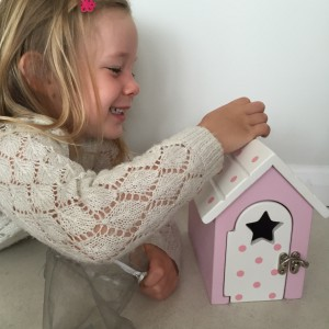 Girl using reward box