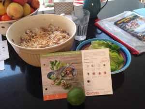 Gousto Recipe Preparation